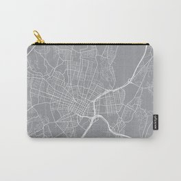 New Haven Map, Connecticut USA - Pewter Carry-All Pouch