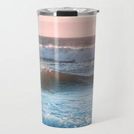 Beach Adventure Summer Waves at Sunset Travel Mug