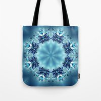 snowflake Tote Bags featuring Snowflake by Mr. Pattern Man