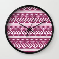 bands Wall Clocks featuring Tribal Bands by stephaniemichalko