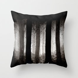 Inky Trees Throw Pillow