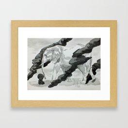 Wind and Elephant Framed Art Print