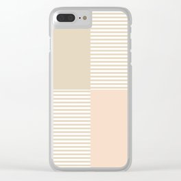 Dash in Tan Clear iPhone Case