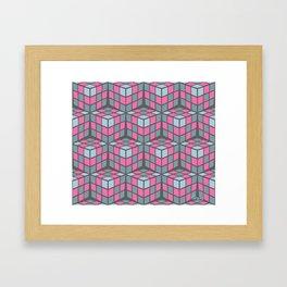 cascade - pink Framed Art Print