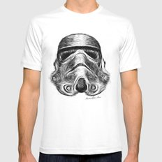 Vincent Stormtrooper MEDIUM White Mens Fitted Tee