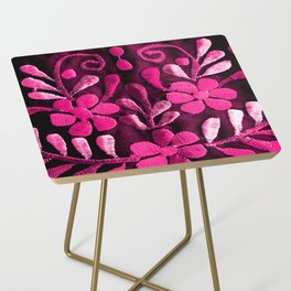 Hot Pink Mexican Flowers Side Table