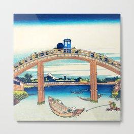The Bridge Art River Tardis Metal Print