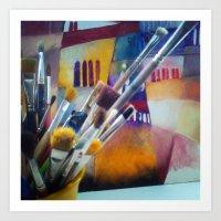 studio killers Art Prints featuring studio by Eva Lesko