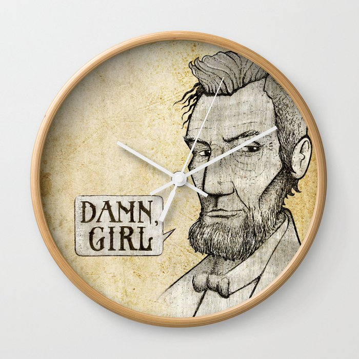 Damn, Lincoln Wall Clock