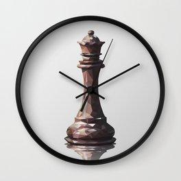queen low poly Wall Clock