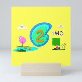 Number two - Kids Art Mini Art Print