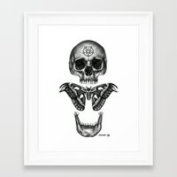 atlas Framed Art Prints featuring ATLAS by Elizabeth Tilly
