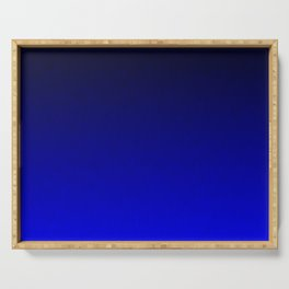 Midnight Black to blue ombre flame gradient Serving Tray