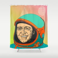 kevin russ Shower Curtains featuring Kevin Spacey by IvaDim