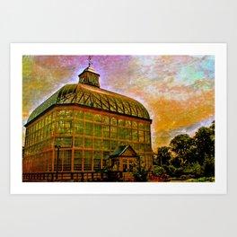 Druid Hill Conservatory at dawn Art Print