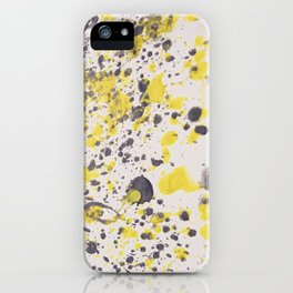 Yellow Grey Classic Abstract Art iPhone Case