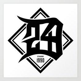 D24 Designs logo Art Print