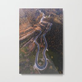 Road from above Metal Print