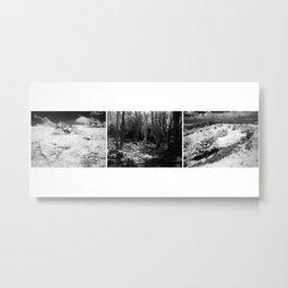 Cheddar Gorge Triptych Metal Print
