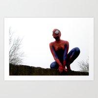 Spider-girl Art Print