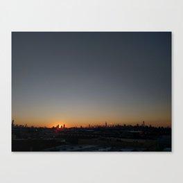 Manhattan @ Sunset Canvas Print