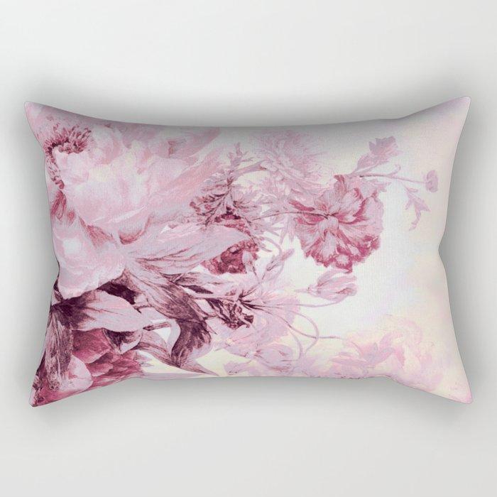 soft pink bouquet Rectangular Pillow