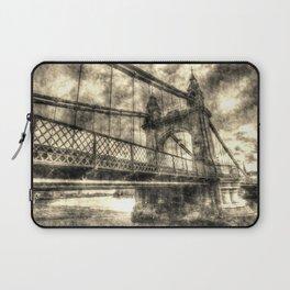 Hammersmith Bridge London Vintage Laptop Sleeve
