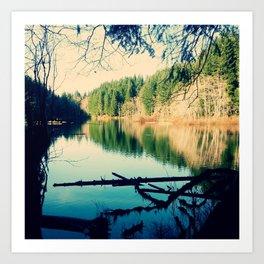 Lost Lake Love Art Print