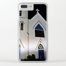 Church under the Lights Clear iPhone Case