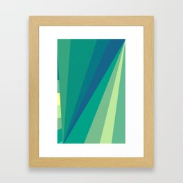 At the beach Framed Art Print