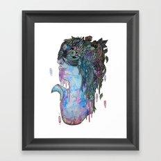 moth effect Framed Art Print