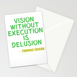 Dream Plan Execute T-shirt Design Execution Stationery Cards