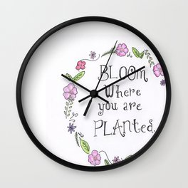 Just Bloom Wall Clock