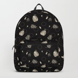 Silver Tropical Summer NEVER LOOK BACK typography Backpack