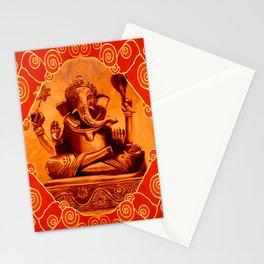 GANESHA - orange Stationery Cards