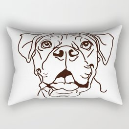 The Boxer Dog Love of my Life Rectangular Pillow
