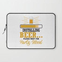 Programmer Installing Beer Party Mood Programmer Laptop Sleeve