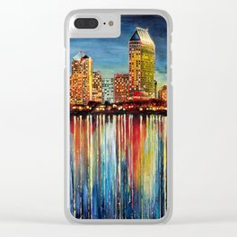San Diego (1 of 3) Clear iPhone Case