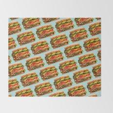 Sandwich Pattern - Turkey Throw Blanket