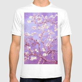 Van Gogh Almond Blossoms Orchid Purple T-shirt