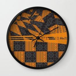 2in1 Pattern Mix, George Wall Clock