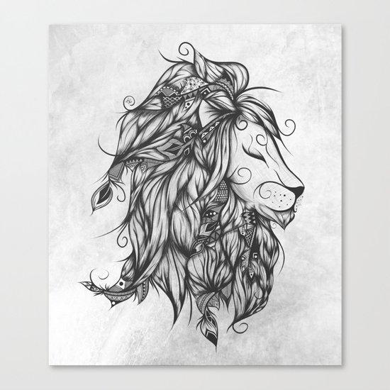 Poetic Lion B&W Canvas Print