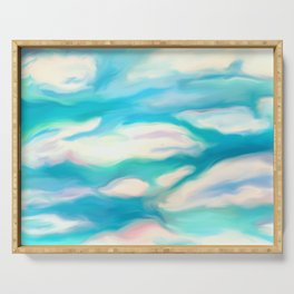 Clouds in the Sky Painting Serving Tray