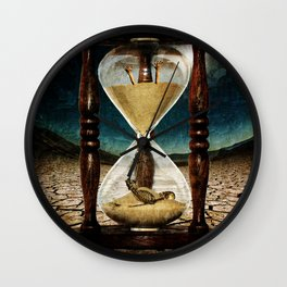 Sands of Time ... Memento Mori Wall Clock