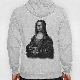 Mona Lisa With Sign Of The Horns Hoody