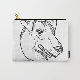Manchester Terrier Head Drawing Carry-All Pouch