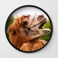 camel Wall Clocks featuring Camel by GardenGnomePhotography