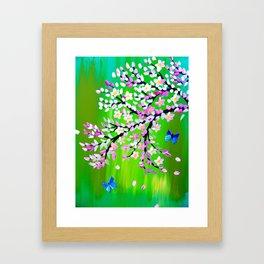Green  and Ulysseys butterflies Framed Art Print