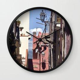 Sicilian Mountainvillage - Forza d'Agro Wall Clock
