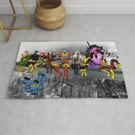 X-Men Lunch Atop A Skyscraper Rug